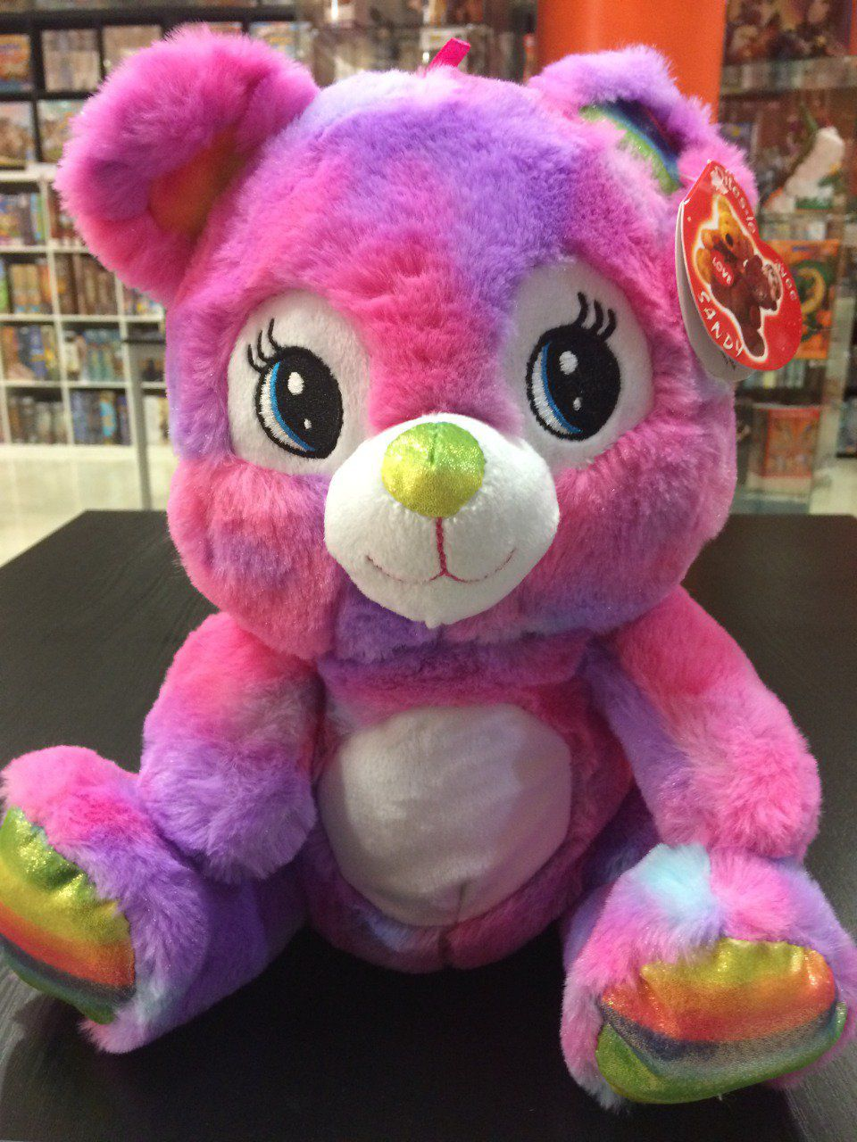 Peluche Ours Rainbow 29 cm - Rose