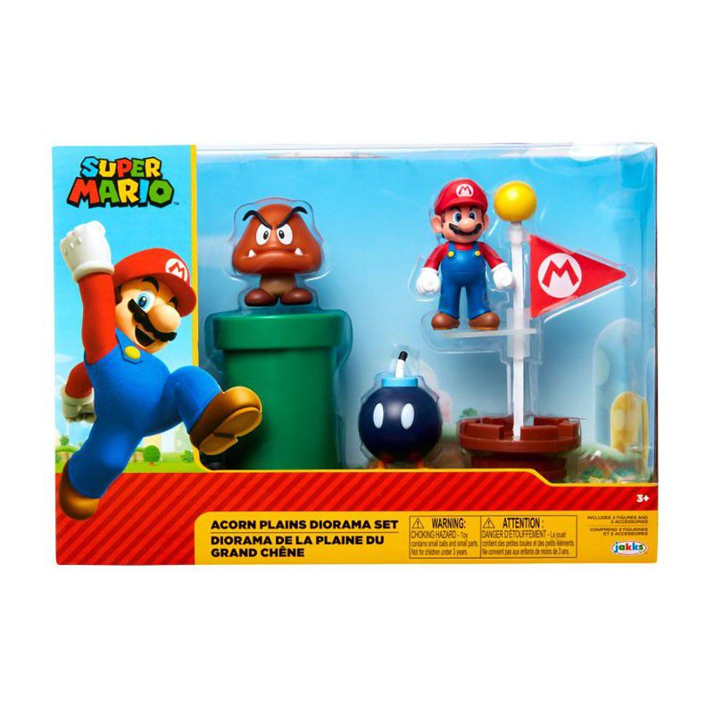 NINTENDO - Assortiment 5 Figurines Mario Plaine du Grand Chêne